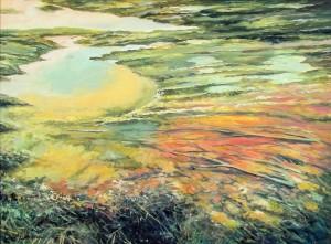 Сакалош А. 'Небо під ногами', 2015, п.о., 73х98