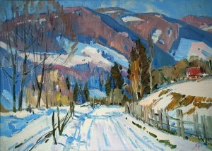 Y. Savinykh The Road To The Mountains', 2011, oil on canvas, 50x70