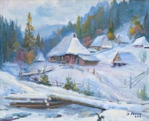 Сенько В. 'Зима на присілку', 2015