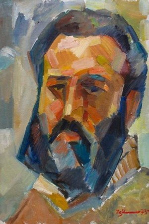 S. Zicherman Self-portrait', 1973, 46.5x33.9
