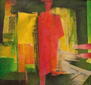 Червона фігура, 2012, п.акрил, 102х108