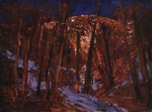 В лісі, кін. 1960-х, к.о. 40х50