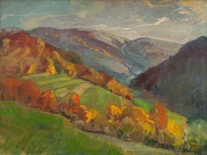 I. Bondarenko 'Autumn Sunny Day In The Mountains'.