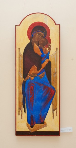 I. Demchuk 'Throne Virgin With Child', 2010.
