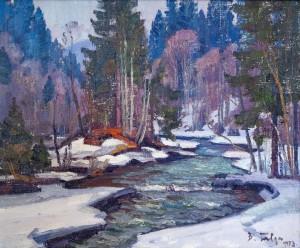 V. Habda Thaw', 1973, oil on canvas, 75x90