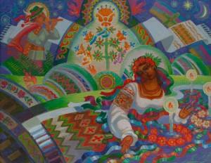 M. Hresko 'Fortune-Telling On Wreaths'