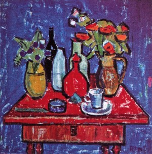 Still life on blue, 1968