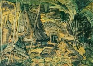 Бідняцьке обійстя, 1939, карт. темп. 44х62