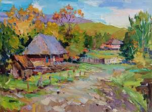 Оніпченко А. 'Осінь в Карпатах', 2018, п.о., 45х60