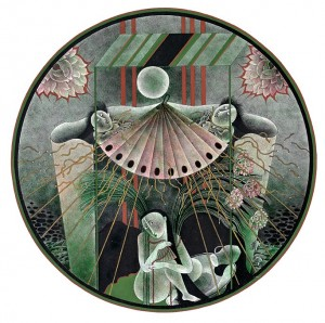 N. Ponomarenko 'Hand Fan', 1979, mixed technique on paper, d-39.jpg