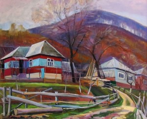 A. Sakalosh Autumn In Lisarnia Village', 2013, oil on canvas, 57,5х70,5