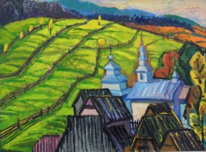 O. Kondratiuk Scenery With The Church', 2010s, oil on canvas