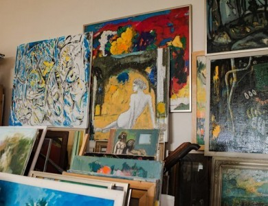 Master and his studio. Oleksandr Hromovyi