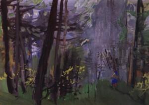 В лісі, сер. 1970-х, к.о. 25х35