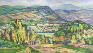 L. Mykyta 'Irshava', 1997, tempera on canvas, 120x70