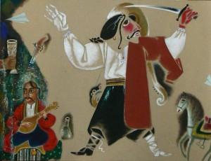 Сірано де Бержерак (ескіз костюму до вистави), 2007, к.т.гуаш