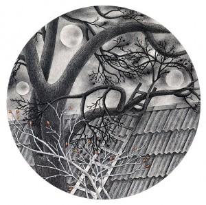 N. Ponomarenko 'Nut Tree', 1983, mixed technique on paper, d-39.jpg