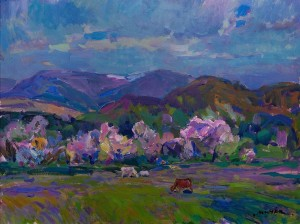 Z. Mychka Spring In The Mountains', 2011, acrylic on masonite, 60x80
