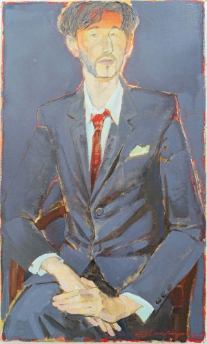 A. Aleksandrovych-Dochevskyi Portrait Of The Artist Borys Firstak', 2011, acrylic on canvas, 100x60