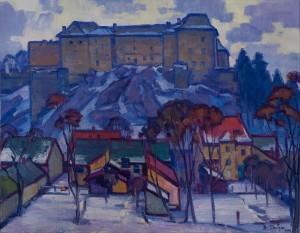 V. Habda Uzhhorod Castle', 1970, oil on canvas, 90x115