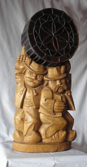 Гуцульські атлети, світильник, 1998