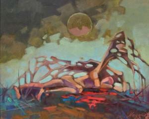 Мадяр Л.'Без назви', 2008, п.о., 50х60