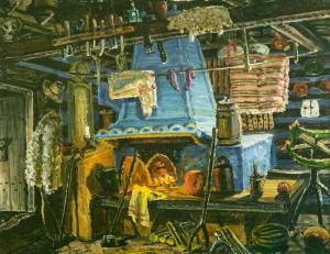 Блакитна піч, 1975, карт.о. 40х50,5