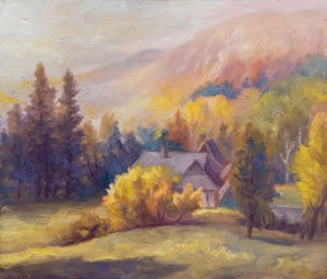 F. Mateichuk Morning In Stuzhytsia Village', 2018, oil on canvas, 70x60