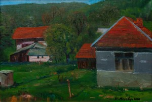D. Mitsovda Zavosyno Village In Velykyi Bereznyi Region', 2017, oil on canvas, 39x57