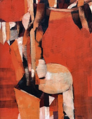 Being Surrounded By Orange, 1990, oil on canvas, 80x100
