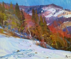 Y. Savinykh March', 2006, oil on canvas, 60x70