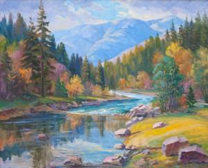 V. Senko Autumn On The Chorna River', 2017, oil on canvas, 90x110