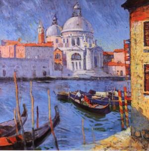 Венеція. Канал Гранде, 1964, п.т.паст. 79х82