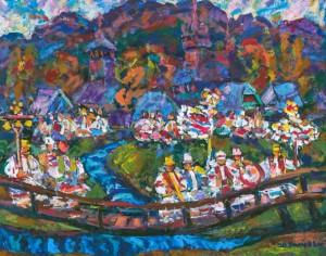 Synevyr Motive, 1998, tempera on canvas, 80х100