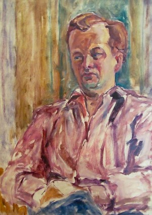 V. Kalna Self-portrait', 1962, oil on canvas, 50x70
