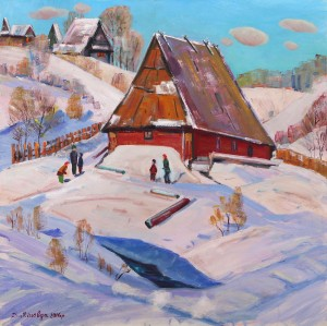 D. Mitsovda January Winter In Verkhovyna', 2016, oil on canvas, 85x85