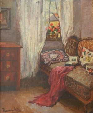 R. Boemm Interior', 1900, oil on canvas, 60x50