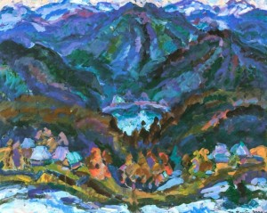 Синевирське озеро, 2005, 80х100