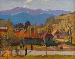 G. Gluck 'A Mountain Village', 1971