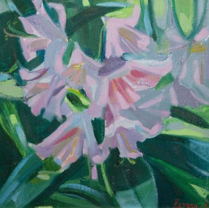 Y. Katran Rhododendron', 2017, oil on canvas, 25x25