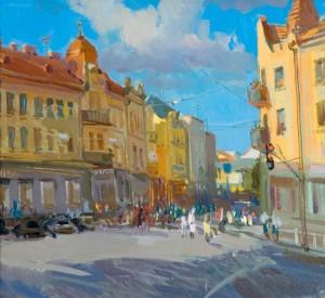 Куточок міста Ужгорода, 2004, п.о., 50х40