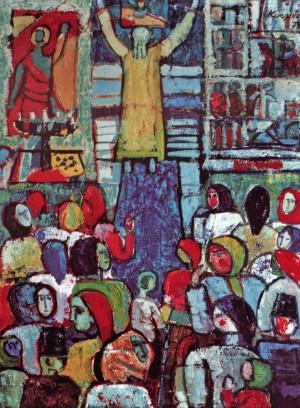 У церкві, 1973, п.о. 80x60