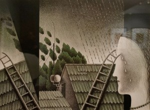 Пономаренко Н. 'Літній дощ', 1983, пап.зміш.техн., 33,5х45