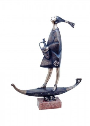 'To The East', 2002, bronze