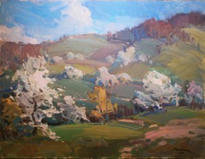 'Blossoming Apple Trees'