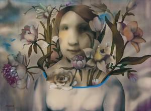 Atoian A. Bouquet, 60x80, batyk, 2014