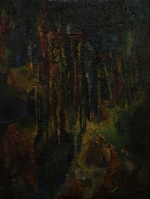 "D. Benke ""Origin"", 1996-1997, mixed technique on Masonite, 73x100"