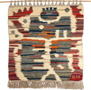 Scarabaeus, 1988, synthetics, cotton, flax, wool, hand weaving,79x79