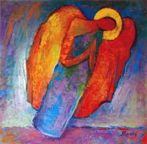 Ангел, 2011, п.о., 80х80