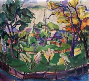 Ерделі А. Деревяна церква, 1936, п.о., 74х83